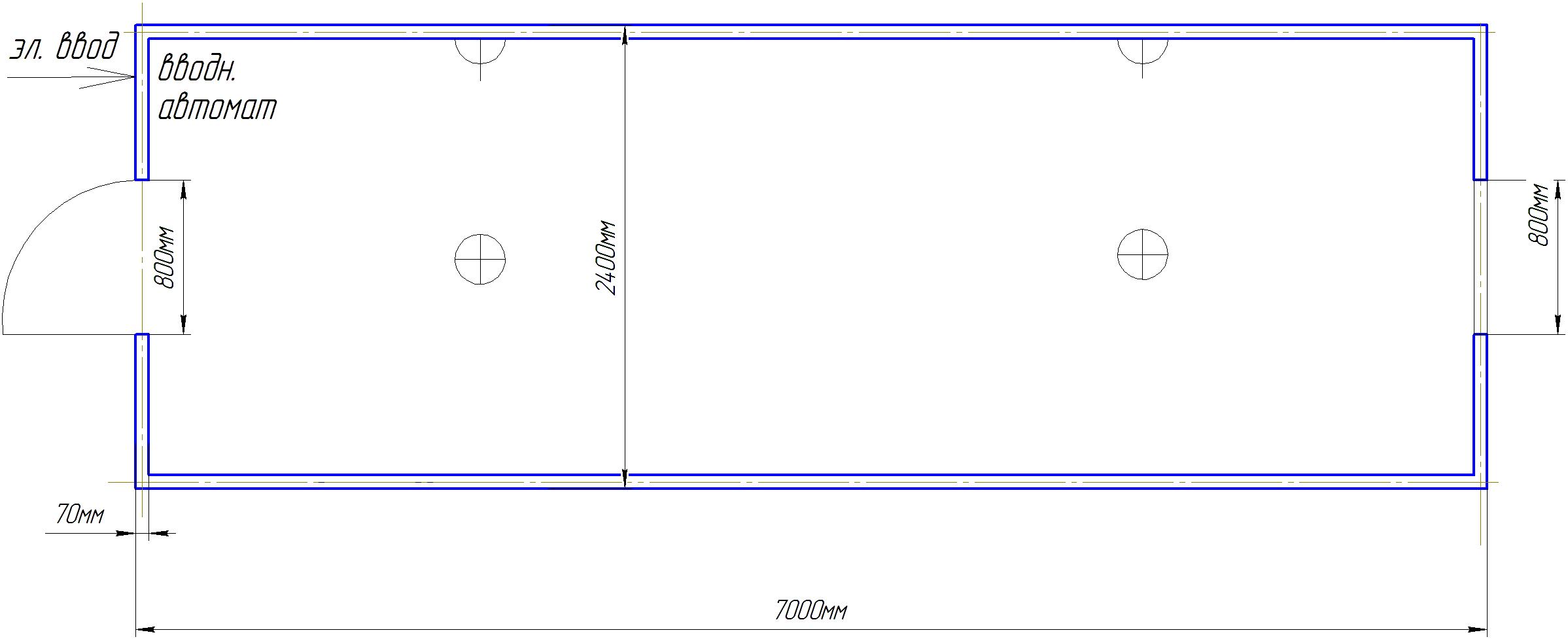 Бытовка строительная СБ-3-7