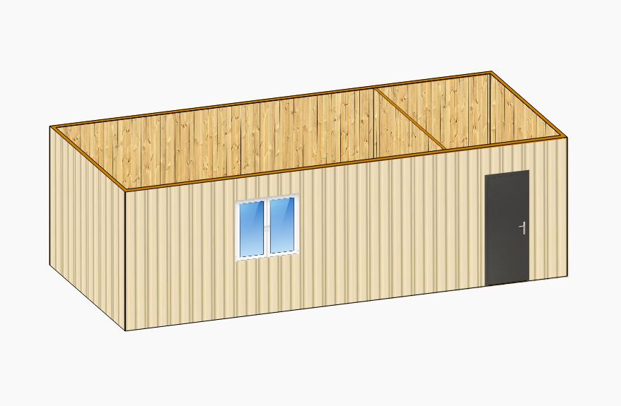 Дачный домик 8х2,4м
