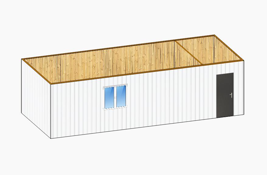 Дачный домик 9х2,4м