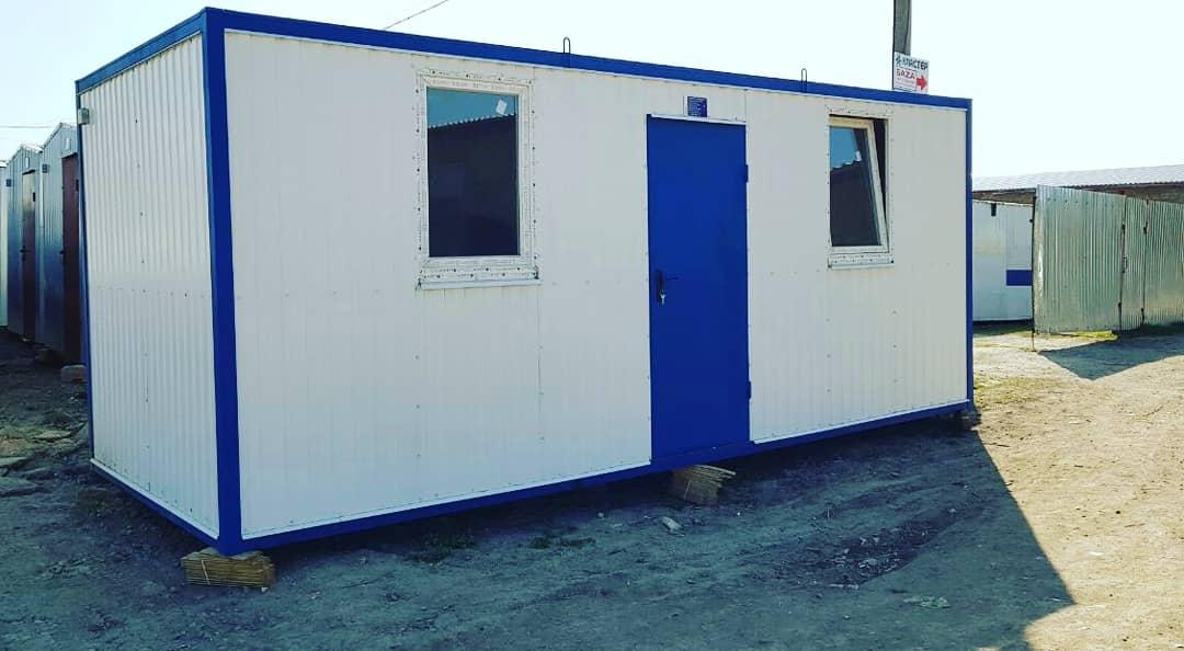Блок контейнер  7х2,4м с плоской цельносварной крышей
