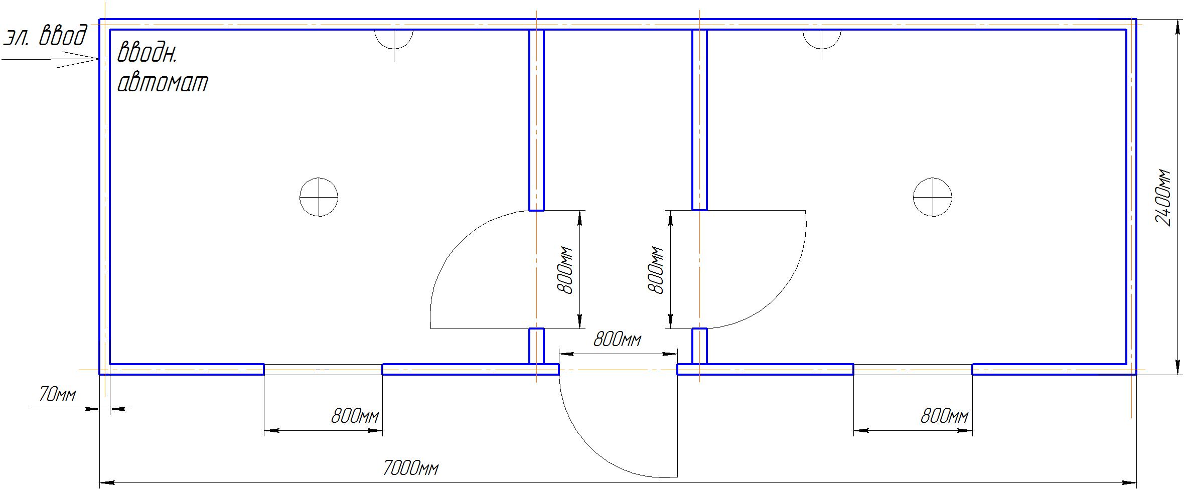 Торговый павильон 6х2.4м
