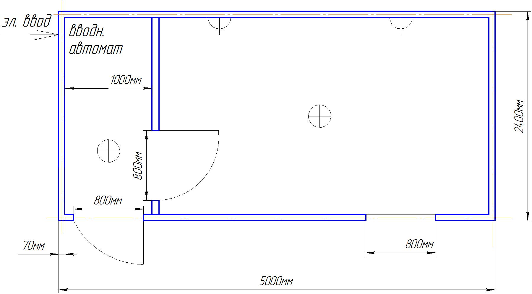 Торговый Павильон 5х2.4м